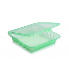 EC-17 Eco Single Compartment Large Flat Top Food Container