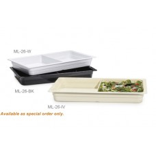 "Full Size (2-Compartment) Insert Pan, 2.5"" deep"