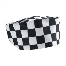 Big Black/White Check Beanie