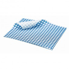 Greaseproof Paper Gingham Print Blue 25X20cm 1000 sheets
