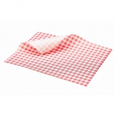 Greaseproof Paper Gingham Print Red 25X20cm 1000 sheets